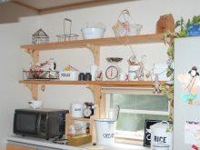 森の家 自然素材 無垢材 無垢フローリング キッチン収納 カフェインテリア