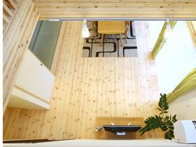 森の家 パッシブハウス リビング 自然素材 レッドパイン 暖かい家