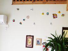 森の家 パッシブハウス 漆喰 手作り飾り 観葉植物のある暮らし